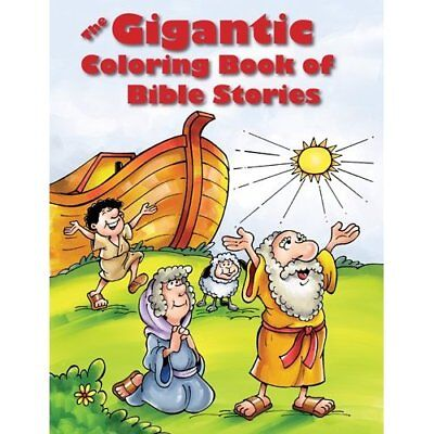The Gigantic Coloring Book of Bible Stories - Paperback NEW Tyndale (Produc 2014