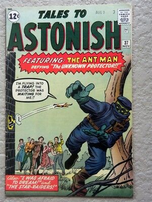Tales To Astonish #37 Original Marvel Comic Book 1962 Fine Ant Man