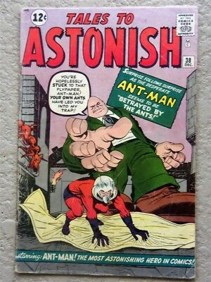 Tales To Astonish #38 Original Marvel Comic Book 1962 Vg-Fn Ant Man 1St Egg Head