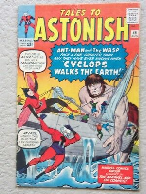 Tales To Astonish #46 Original Marvel Comic Book 1963 Very Fine Ant Man Wasp