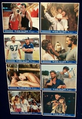 Against All Odds Original Mint Lobby Card Set Of 8 1984 Jeff Bridges