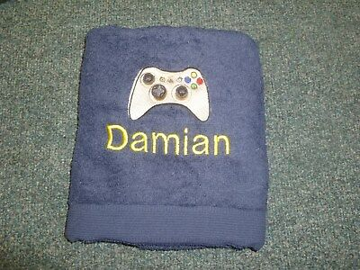 New Personalised Embroidered console controller holiday beach Bath Towel