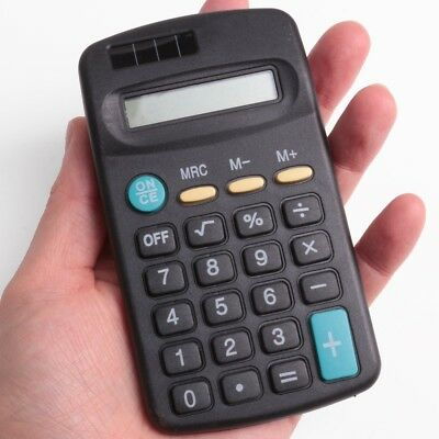 SMALL/MINI POCKET CALCULATOR School Office Home Stationery 8 Digit Solar Power