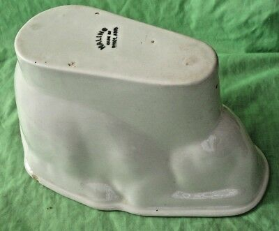 Old antique pottery porcelain Maling Ware RABBIT Jelly Mould X24 M