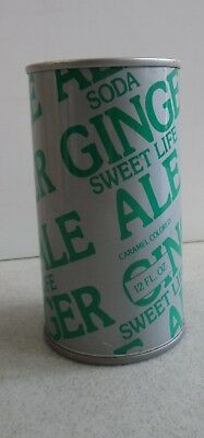 Vintage Sweet Life Ginger Ale Soda 12 Oz. Can - Green & Grey