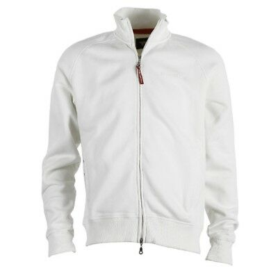 Sweatshirt Abarth Full Zip Adult Rally Embroidered Official weiss L DE