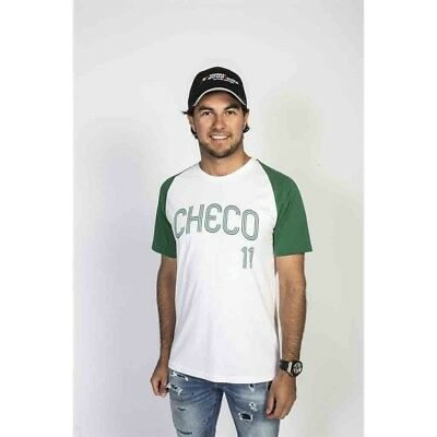 "T-SHIRT Formula One 1 Sahara Force India ""Checo"" Perez F1 weiss & grau M DE"