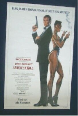 A View To A Kill Original Advance 27X41 Rolled Movie Poster James Bond 007