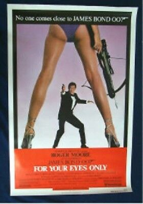 For Your Eyes Only Original Folded Near Mint Regular Movie Poster James Bond 007