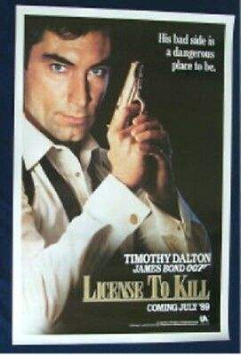 Licence To Kill Original Rolled Advance Style Rolled Movie Poster James Bond 007