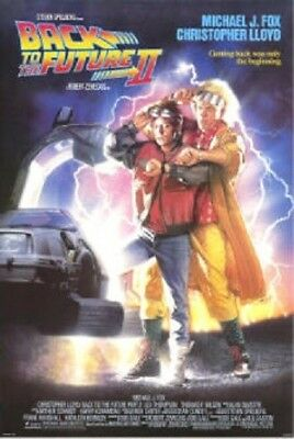 Back To The Future 2 Original Rolled Movie Poster 1989 Ii Michael J. Fox