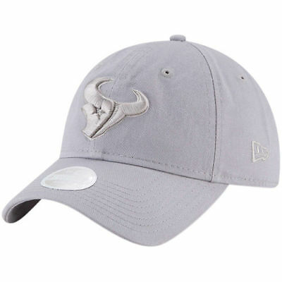 bda21507 NEW ERA HOUSTON Texans Women's Gray Team Glisten 9TWENTY Adjustable ...