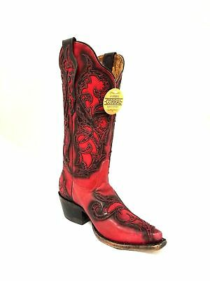 aad5d36b0da CORRAL WOMEN'S DISTRESSED Turquoise And Chocolate Overlay Cowgirl ...