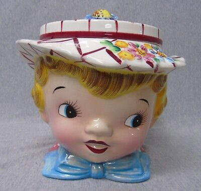 Vintage Lefton Dainty Miss Cookie Jar with Lid m798