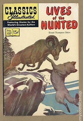 Classics Illustrated 157 Lives of the Hunted #1 1960 VG+ 4.5
