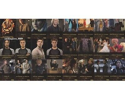 2013 Neca The Hunger Games - Catching Fire Complete Trading Card Set (40 Cards)