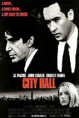 City Hall Original Rolled 2/s Movie Poster 1996 Double Sided