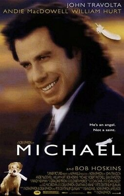 Michael Original Rolled 2/s Movie Poster 1996 Double Sided John Travolta