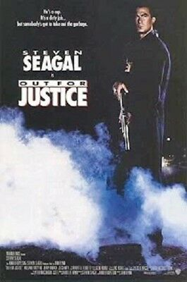Out For Justice Original Rolled 2/s Movie Poster 1991 Steven Seagal Double Sided