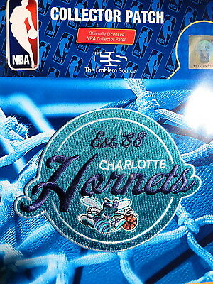 Official Licensed NBA Charlotte Hornets 1988 Inaugural Iron or Sew On Patch aa826782add7