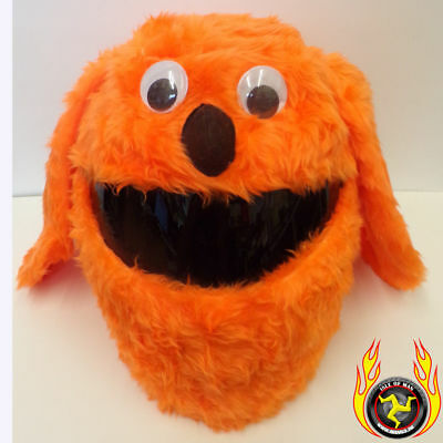 Orange Hunde Funny Heeds Crazy Crash Helm Cover