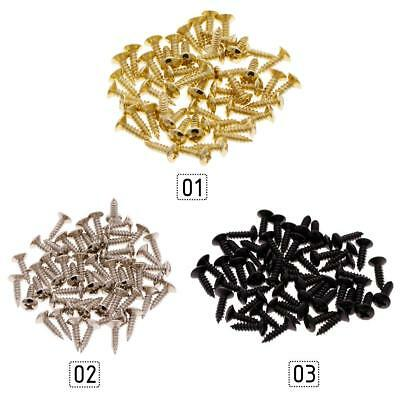 Hot 50PCS Screws for Guitar Bass Pickguard Back Plate Tuning Pegs Jack #SS