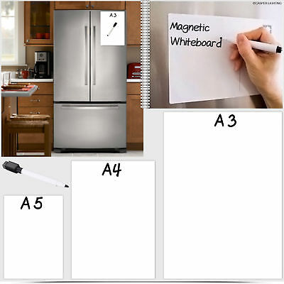 Monthly Dry Erase Magnetic Refrigerator Fridge Calendar Message White Board A3
