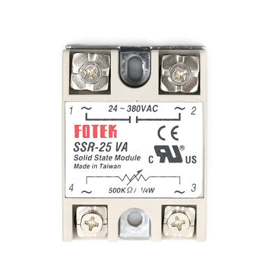 SSR-25VA AC 24-380V 25A Solid State Relay for PID Temperature Controller BBSU