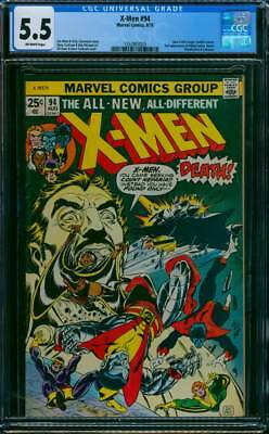 X-Men # 94  New X-Men begin - Count Nefaria !  CGC 5.5  scarce book !