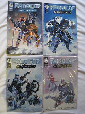 """ROBOCOP : """"MORTAL COILS"""" complete 4 issue 1993 DARK HORSE series by GRANT,GNAZZO"""