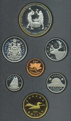 1988 Proof Double Dollar Set Heavy Industry St Maurice Ironworks Canada