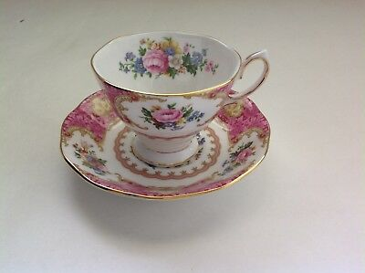 """Royal Albert Bone China England """"Lady Carlyle"""" Cup and Saucer"""