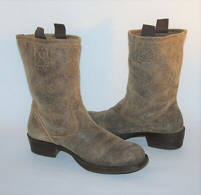 22ae8d726ce STEVE MADDEN HOUSTONN Pull On Western Motorcycle Short Mid Calf Boots  Womens 10