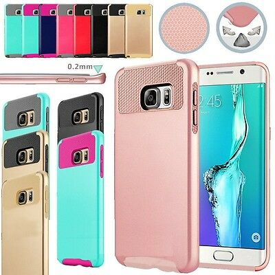 Hybrid Rugged Rubber Hard Shockproof Case Cover for Samsung Galaxy S5 S6 S7 Edge