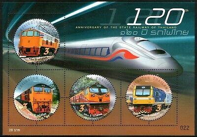 Thailand 2017 State Railway of Thailand Miniature Sheet Mint Unhinged