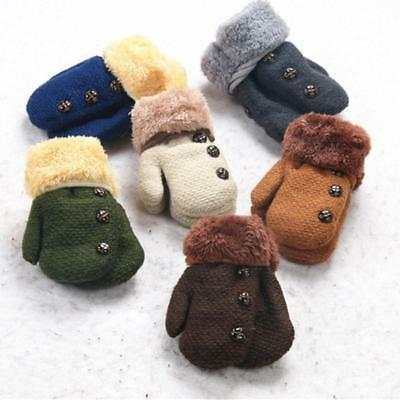 Baby Kids Girls Boys Winter Child Gloves Newborn Warm Stretchy Knitted Mittens G
