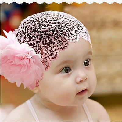 Baby Headbands Headband Newborn Toddler Flower Girl Lace Christening Hair Band G