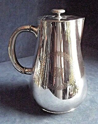 GOOD Large ~ SILVER Plated ~ Bulbous JUG ~ c1890 by ELKINGTON
