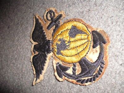 WW2 WWII US Marine Corps Rare Variation large patch EG&A USMC blue on White