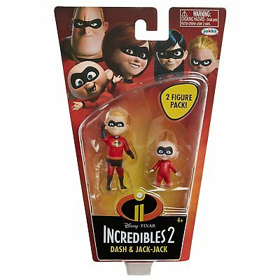 Disney Pixar Incredibles 2 Dash and Jack-Jack 4 Inch Scale Action Figure Pack
