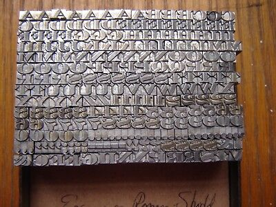 "Letterpress Metal Type   ""Engravers Roman Shaded #6""  12 Point"
