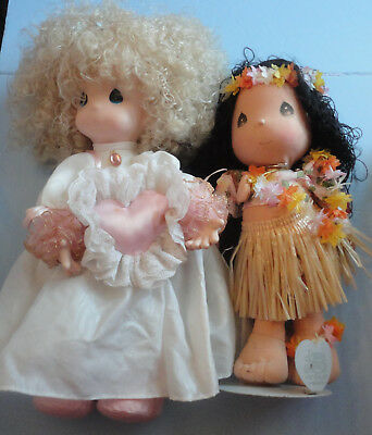 Precious Moments Dolls - Lot #3 Set of 2 Different Dolls - No Tags
