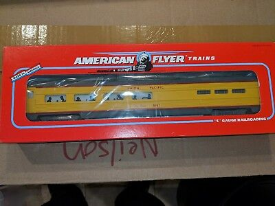 American Flyer S Gauge 6-48941 UP Vista Dome Dining Car C-9 OB