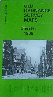 Old Ordnance Survey Detailed Maps Chester Cheshire  1908 Godfrey Edition New