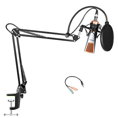 Neewer NW6 Condenser Microphone (Plastic Mesh), NW-35 Mic Stand and Pop Filter