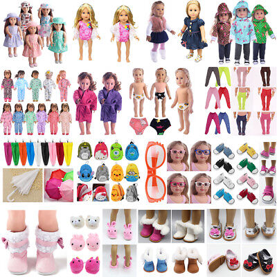 Stylish Clothes Pajamas Shoes for 18'' American Girl Our Generation My Life Doll