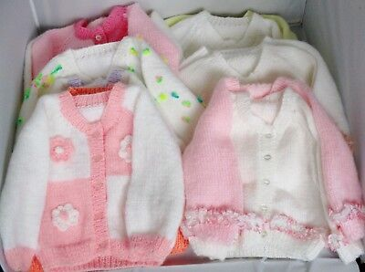 Hand knitted baby cardigan to fit 3-6 months choice of styles