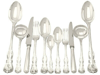 Antique Sterling Silver Canteen of Cutlery for Twelve Persons by George Adams