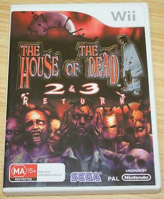 Nintendo Wii Case & Booklet Only - The House Of The Dead 2 & 3 Returns