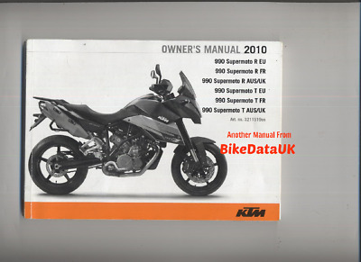 KTM 990 Supermoto R & T (2010->) Genuine Riders Owners Manual Hand-Book AP16